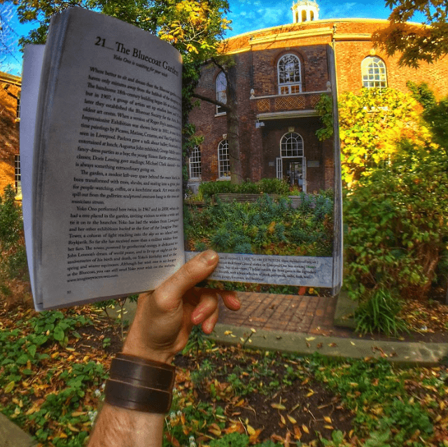 The Bluecoat Garden as shown in a book