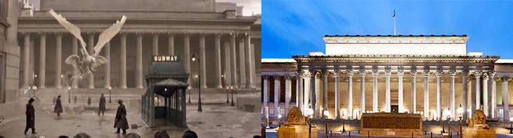 St George's Hall in Fantastic Beasts and Where to Find Them and Every day life
