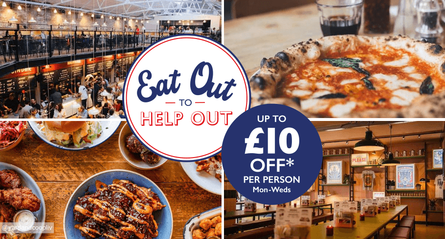 Eat out to help out - A number of restaurants in liverpool