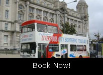 The City Explorer bus at Pier Head