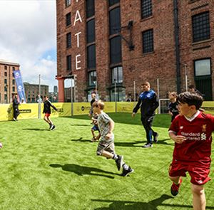 Floating Football Pitch coming to the Royal Albert Dock Liverpool!