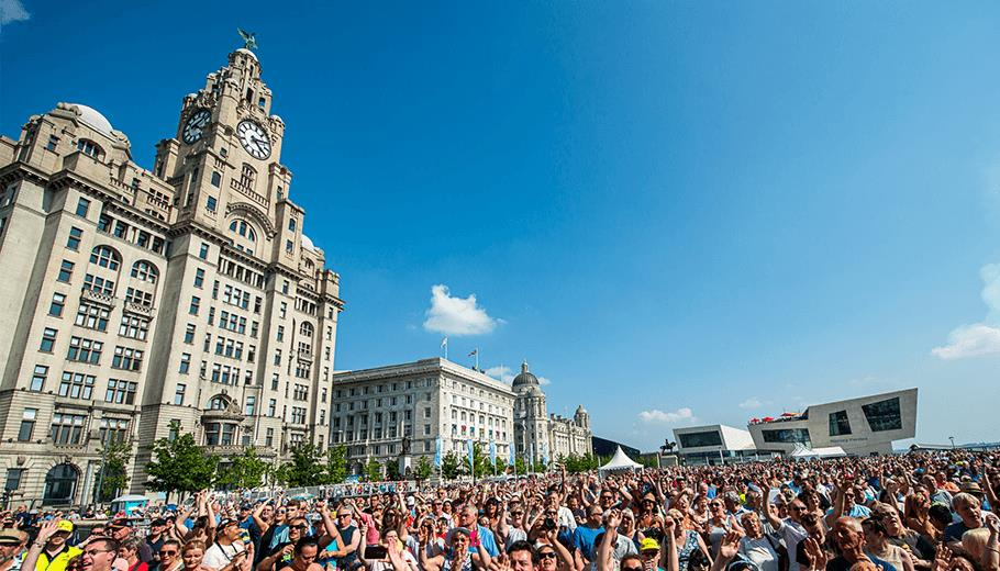 Mersey River Festival on the Liverpool Waterfront