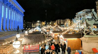 Liverpool Christmas Market at St George's Hall Plateau