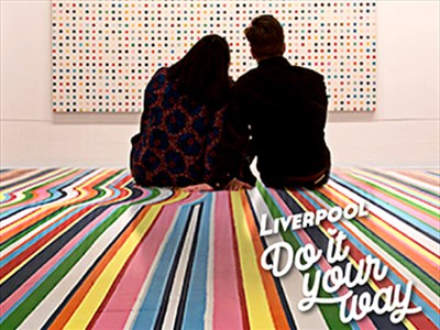 Michelle and her boyfriend in Tate Liverpool