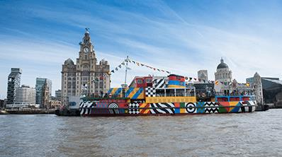 Dazzle Ferry - The iconic Mersey Ferry, dazzled!