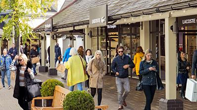 Cheshire Oaks Brands including Lacoste