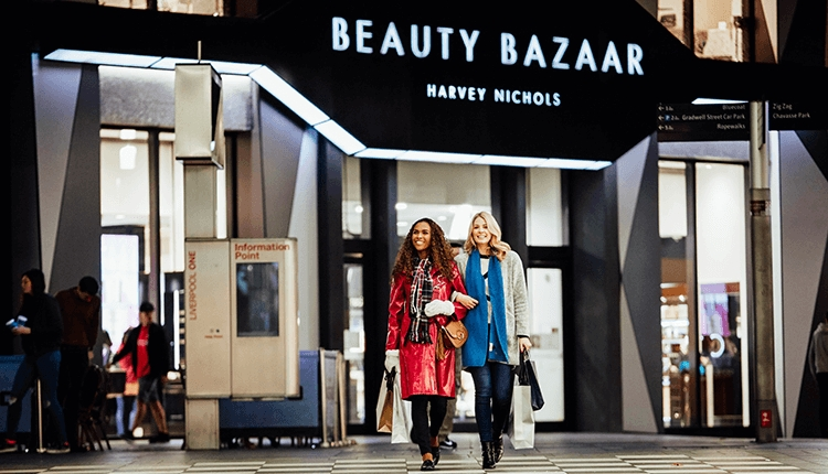 The only Beauty Bazaar by Harvey Nichols takes pride of place on St Peter's Lane, Liverpool ONE
