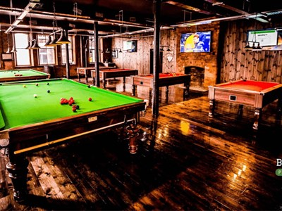 Both American and English Style Pool and Snooker Tables at Boston Pool Loft