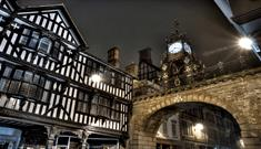 Chester Eastgate Clock at night