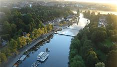 The River Dee from the air