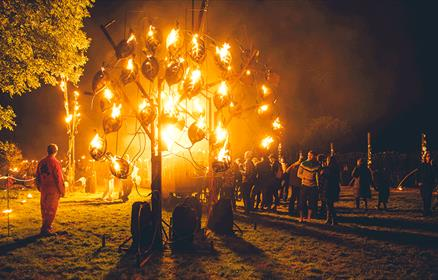The Fire Garden, created by Walk the Plank, seen here at Festival No. 6