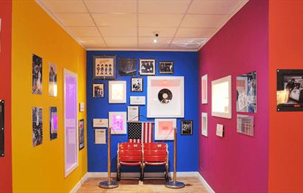 Magical Beatles Museum showing 2 original seats from Shea Stadium