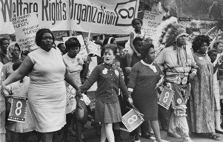 The National Welfare Rights Organization marching to end hunger as part of the Poor People's Campaign, 1968. Jack Rottier photograph collection, Georg