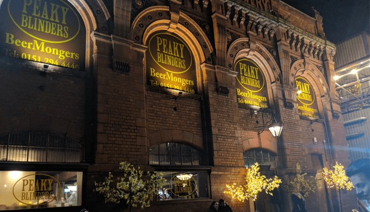 The Peaky Blinders bar houses in a converted warehouse in the Baltic Triangle area of Liverpool