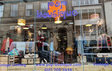 Pop Boutique on Bold Street - a one-stop shop for everything vintage retro.