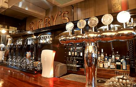 The bar inside Rigby's