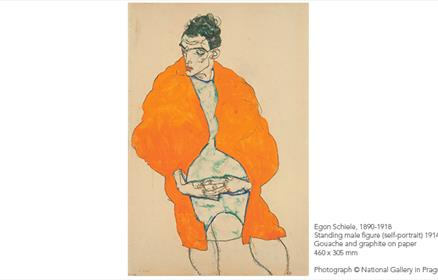 Egon Schiele's work will be exhibited at Tate Liverpool in 2018