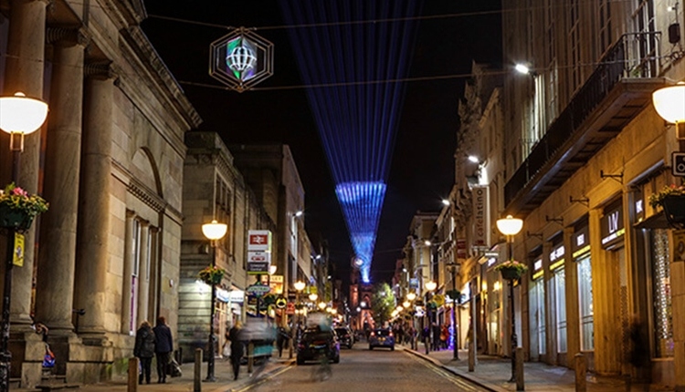 Follow the Star light installation on Bold Street in 2017