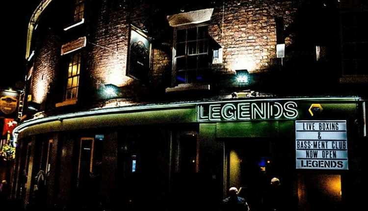 Legends Sports Bar on Mathew Street