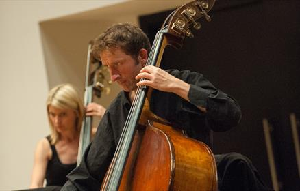 Marcel Becker on Double Bass, and Ron Abramski on Piano