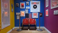 'America' themed memorabilia at the Liverpool Beatles Museum